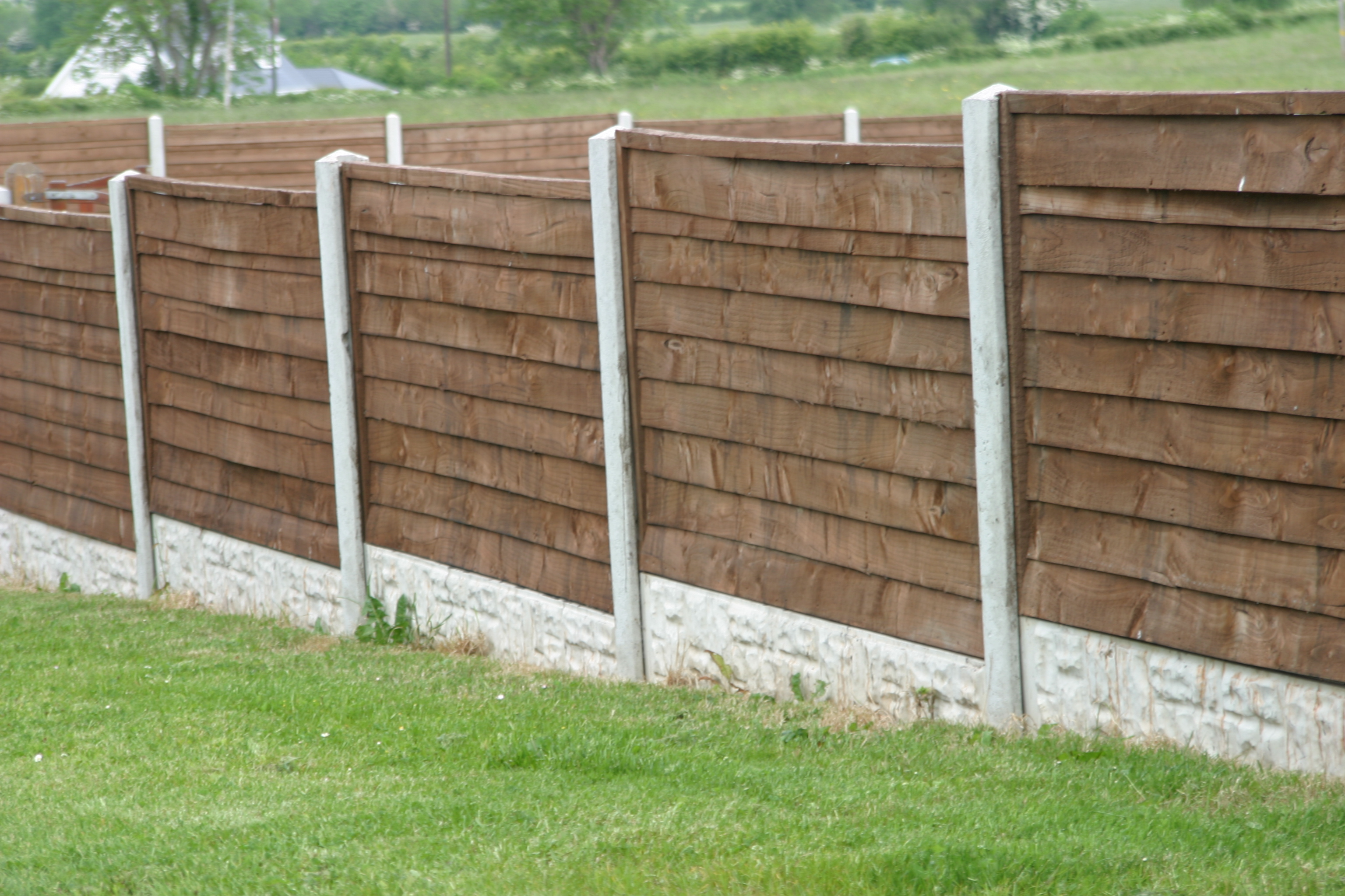 Concrete post timber panel fencing frs fencing - Your guide to metal fence panels for privacy and safety ...