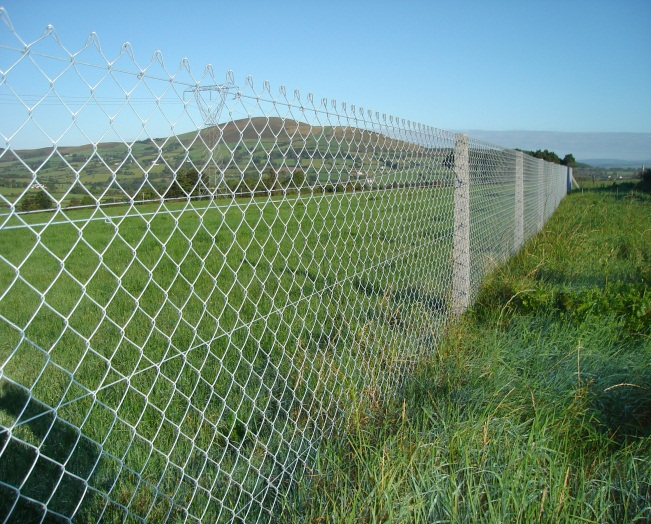 Concrete post chain link fencing frs