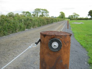 creosote fencing with electric