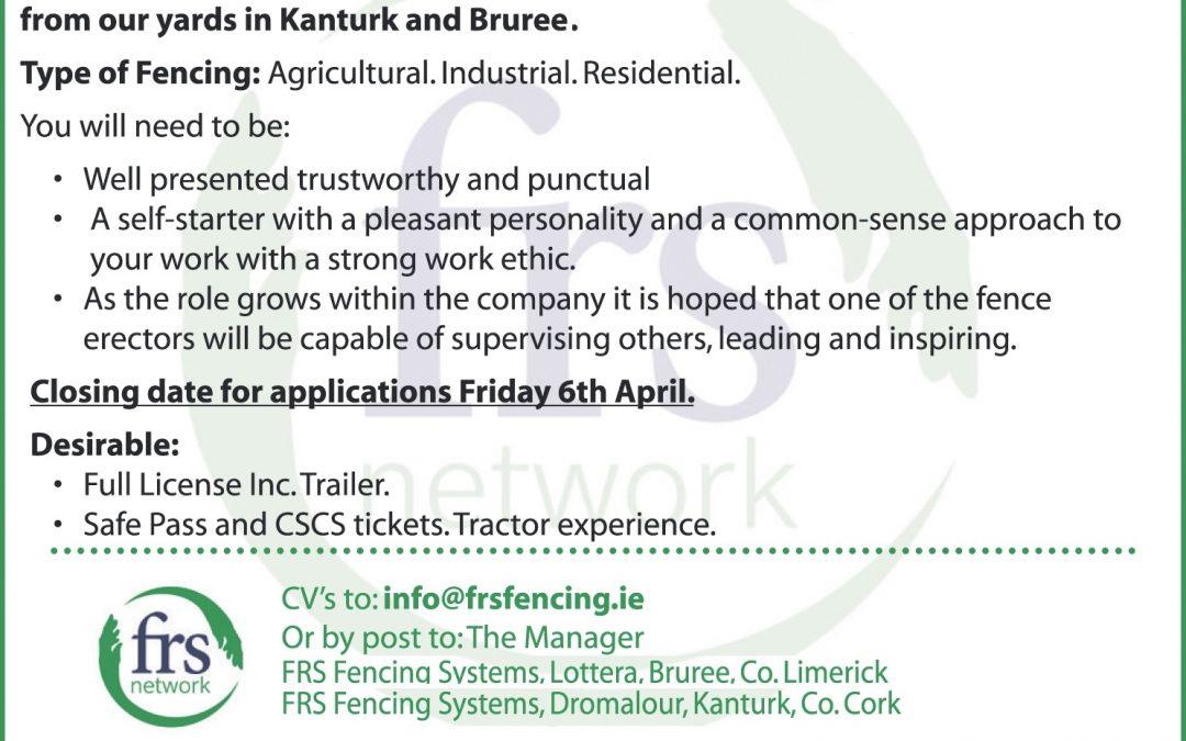 Wanted: Fencing Erectors
